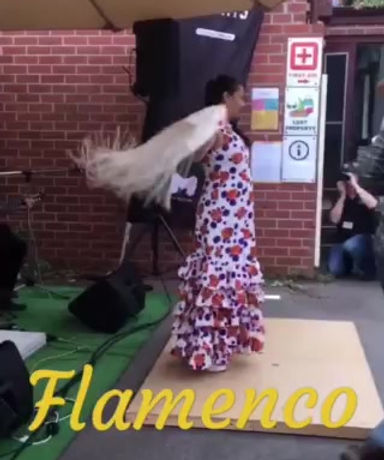 Flamenco Show : Flamenco Fiesta Paul & Belinda Martin performing LIVE @ Spanish Language Fiesta in North Melbourne : APRIL 2019