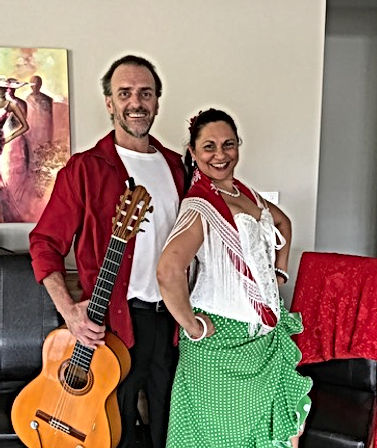 Flamenco Fiesta Group Guitar & Dancer Paul with Belinda Martin @ Private Function October 2018