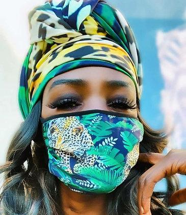 Tiger In Grass Headscarf