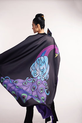 Purple Peacock Caftan