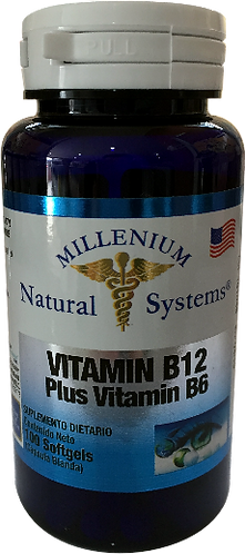Vitamin B12 Plus B6 *100 Sof Natural Systems