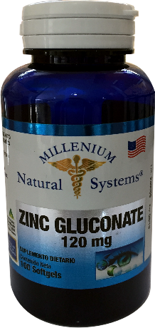 Zinc gluconate 120 mg *100 Sof Natural Systems