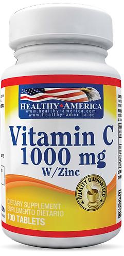 Vitamin C 1000 mg *100 Cap Healthy América
