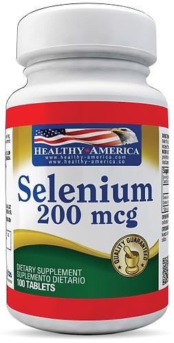 Selenium 200 mcg *100 Cap Healthy América