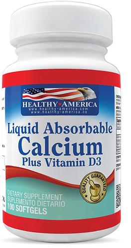 Calcium plus Vitamin D3 *100 Sof Healthy América
