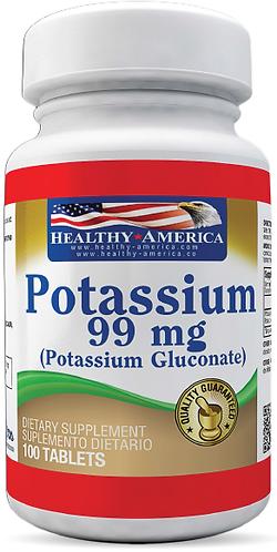 Potassium 99 mg *100 Tab Healthy América