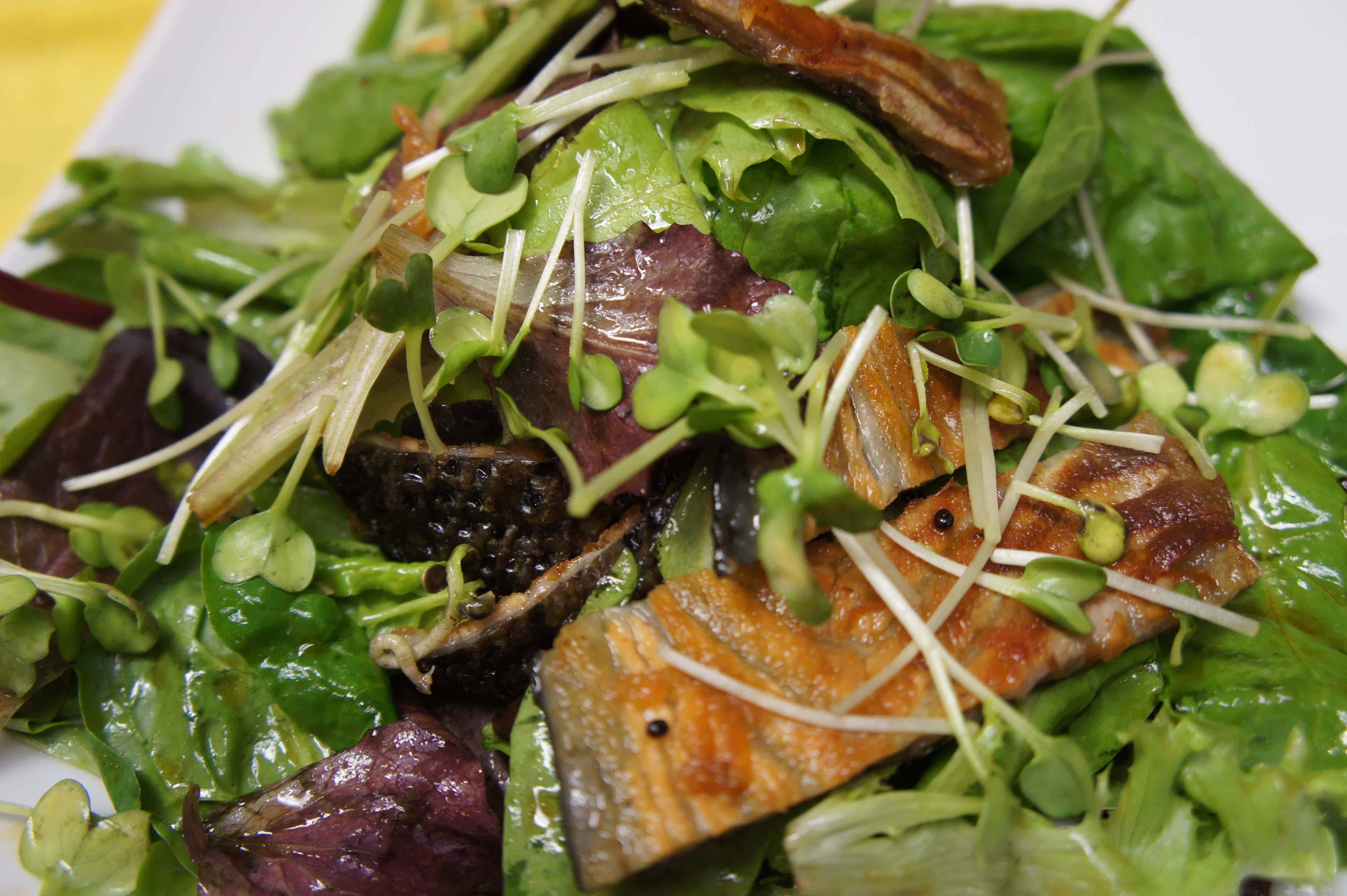 Salad-salmon skin-2