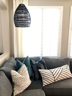 Pillows  + lighting