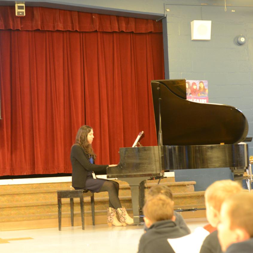 Joan Dirska on Piano