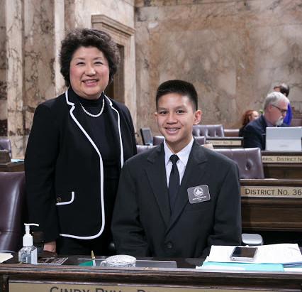 St. Luke student serves as page in state legislature