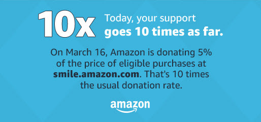 Amazon Smile Gives 5% to St. Luke Thursday, March 16th ONLY