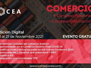 X Congreso Nacional y I Congreso Internacional de  Comercio Exterior