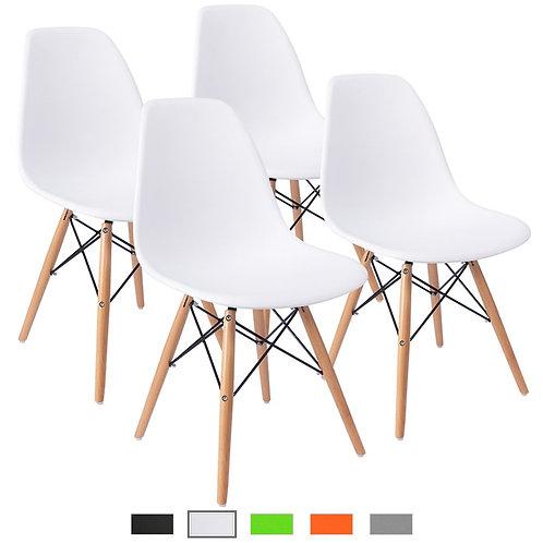 Minimalist Modern 4-Piece Chair Set