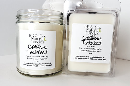 Caribbean Teakwood Natural Soy Candle