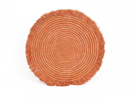 Peach Large Fringed Placemat