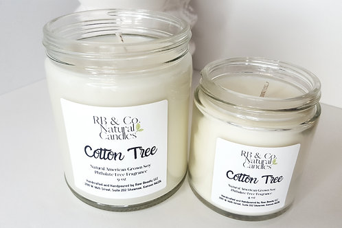 Cotton Tree Natural Soy Candle