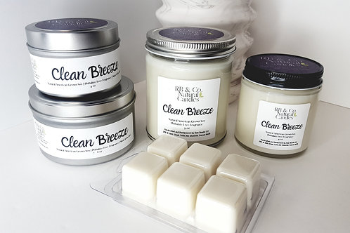Clean Breeze Natural Soy Candle
