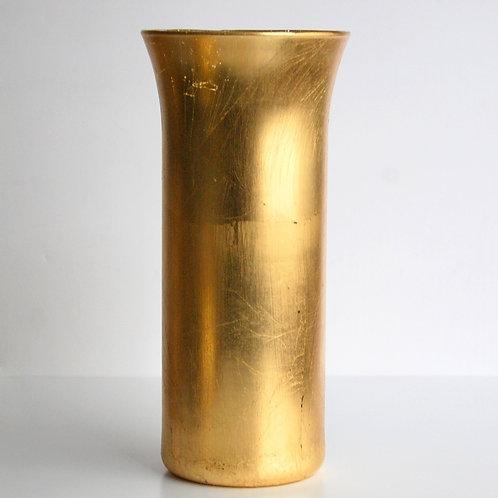 """Gilt 9"""" Gold Hurricane Vase"""