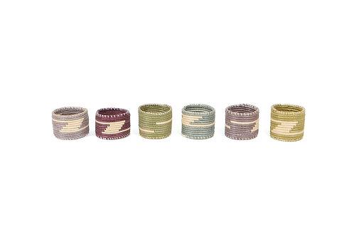 Multi-color Napkin Rings II (Set of 6)