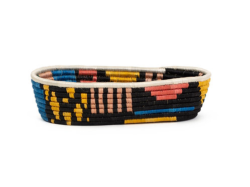 Black + Neon Biko Bread Basket