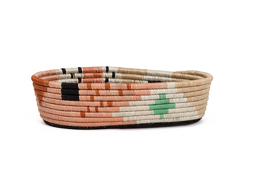 Dusty Peach Biko Bread Basket