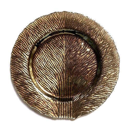 "Tree of Life 11"" Platinum Luster Dinner Plates, Set of 2"