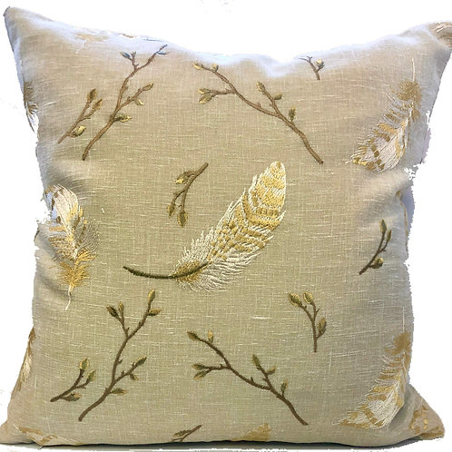 """Sammi"" Embroidered 20"" Throw Pillow Covers (Set of 2)"