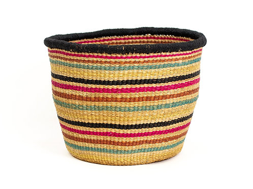 "Striped Fete Grass Planter 8"" x 8"""