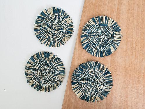 Niagara Fringed Heathered Coasters (Set of 4)