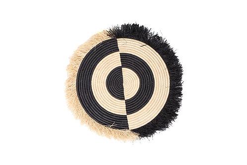 Half Bullseye Fringed Black Disc