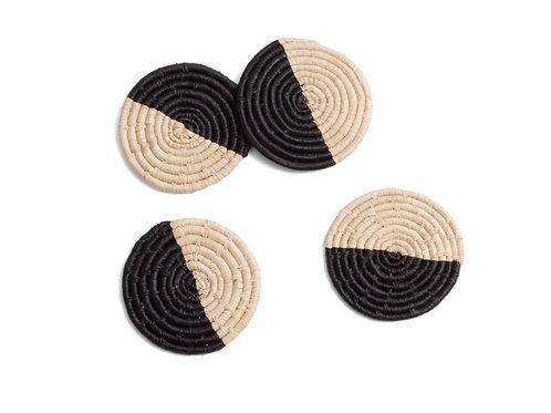 Half Moon Raffia Coasters (Set of 4)
