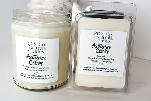 Autumn Colors Natural Soy Candle