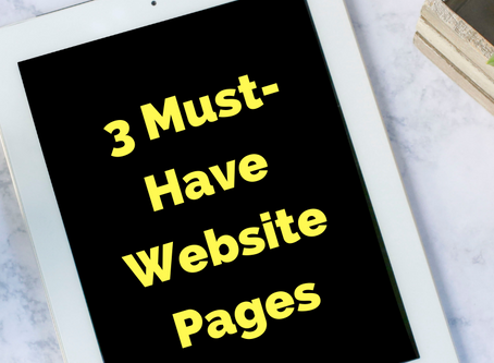 Website Essentials - Part One: 3 Must-Have Website Pages