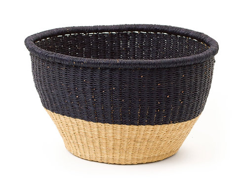 "Large Black Dipped Storage Basket 12"" x 14"""