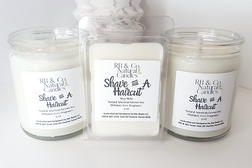 Shave and a Haircut Natural Soy Candle