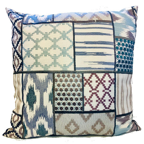 """Patch"" Embroidered 20"" Throw Pillow Covers (Set of 2)"