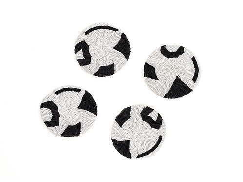 Black Beaded Atelier Coaster 01 (Set of 4)