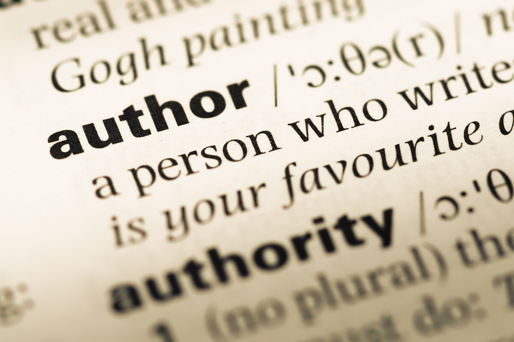 Dictionary definition of author