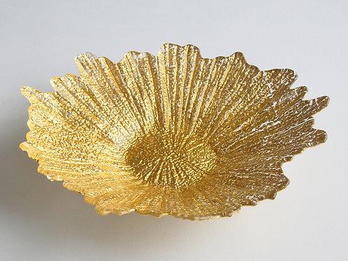 "Coral 16"" Gold Centerpiece Bowl"