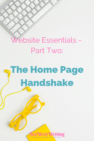 Website Essentials - Part Two: The Home Page Handshake