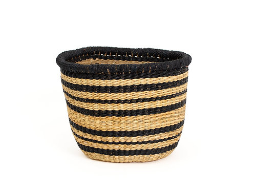 "Striped Black Grass Planter 5"" x 5"""