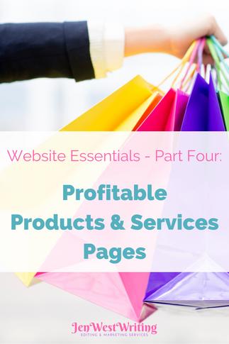 Website Essentials - Part Four: Profitable Products & Services Pages