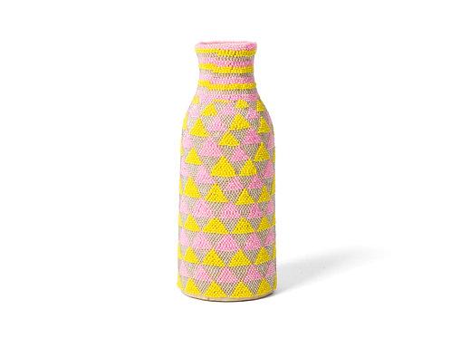 Beaded Pink, Sun + Pearl Bud Vase