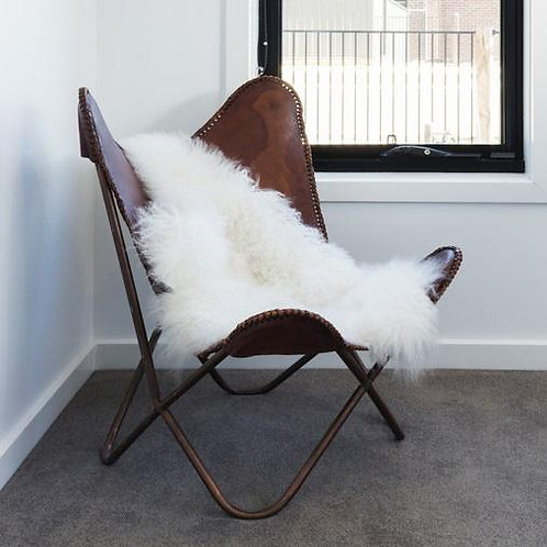 Ultra Soft Faux Sheepskin Throw/Rug - White