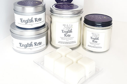 English Rose Natural Soy Candle