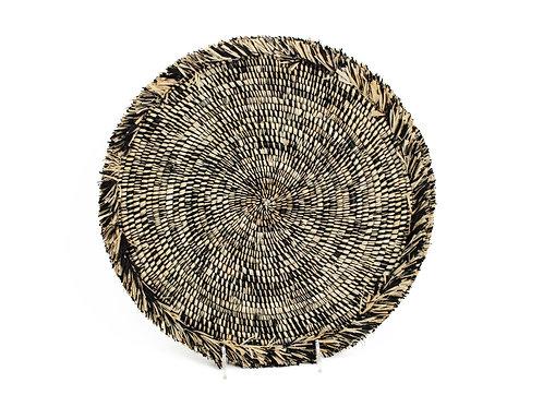 Black Heathered Large Fringed Placemat