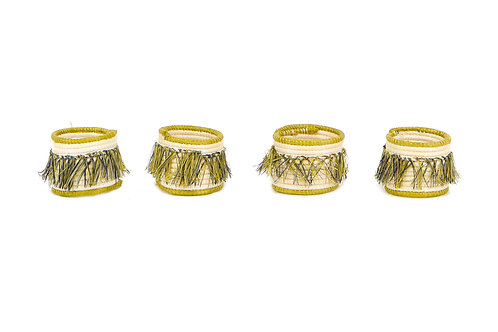 Sweet Pea Fringed Napkin Rings (Set of 4)