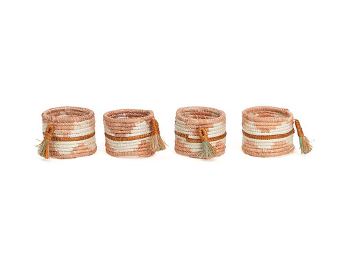 Dusty Peach Napkin Rings (Set of 4)