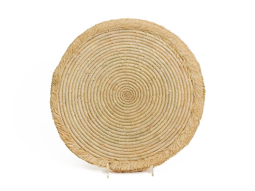 """15"""" Natural Large Fringed Charger"""