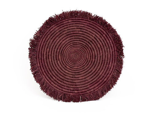 Burgundy Large Fringed Placemat